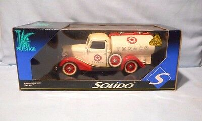 Solido Prestige Die-Cast 1936 Ford Citerne Texaco Oil Truck Made In France