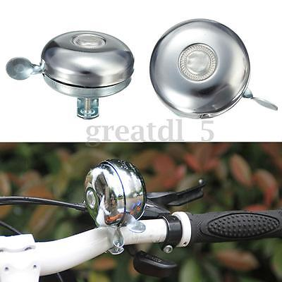 Retro Metal Ring Bike Bicycle Cycling Handlebar Bell Vintage Sound Alarm Silver