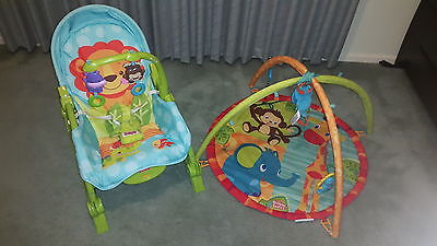 Baby FISHER-PRICE Rocker and BRIGHT STARTS Activity Gym