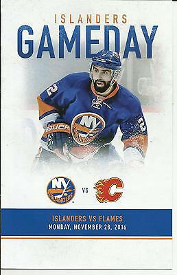 New York Islanders Calgary Flames Nick Leddy November 28,2016 Gameday Program