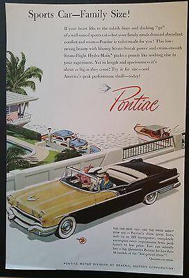 Original Vintage Magazine Ad PONTIAC CONVERTIBLE Yellow & black