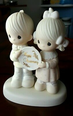 "Precious Moments Happy Anniversary Figurine ""God Blessed Our Years Together"""