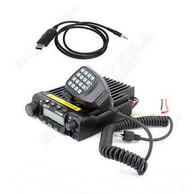 2-way KT-UV980 Mobile Car Radio Transceiver 40W V/UHF Dual Band Programing Cable