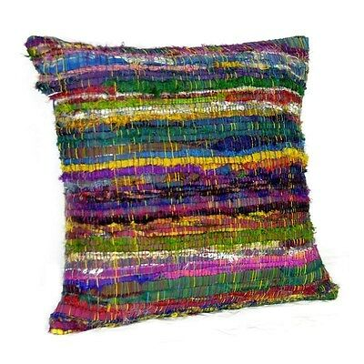 Silkroute PL2596 Chindi Multi-Colored Pillow