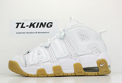 Nike Air More Uptempo GS Youth White Bamboo Gum Bottom Pippen 415082-101 3.5-7Y