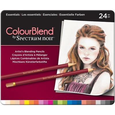 BRAND NEW - Spectrum Noir - ColorBlend Pencils 24/Pkg - ESSENTIALS - SPECCBES