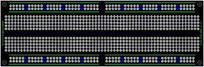 PCB Prototype Printed Circuit Board Full Size Configured Breadboard Layout