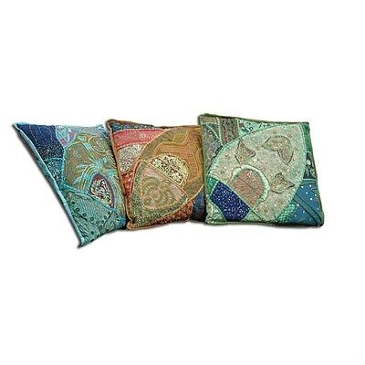 Silkroute TEX1074 Patchwork Embroidery Pillow