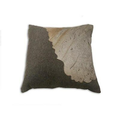 Silkroute PL11332 Braxton Pillow Gray Leather