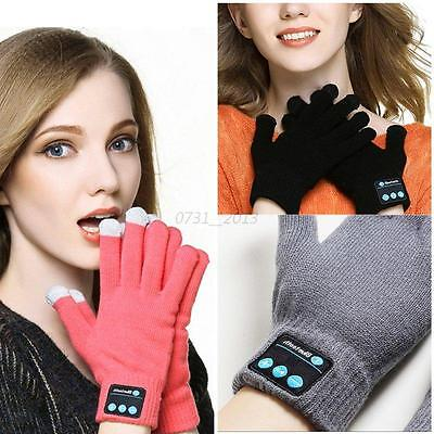 Hot Unisex Bluetooth Talking Gloves For iPhone andriod Touch Screen Call Headset