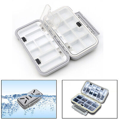 Waterproof Fishing Lure Bait Tackle Storage Box Case With 16 Compartments