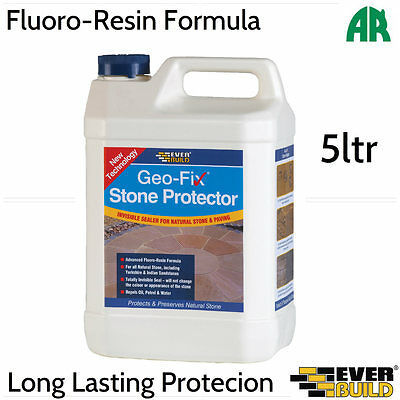 Everbuild Geo-Fix Stone Protector | Fluoro Resin | Paving Sealer | 5ltr