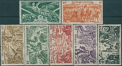 French Oceania 1946 SG179-185 Airmails MNH