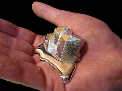 25 Grams of Magic Liquid Metal Melts at 29.76 Deg C (85.57 Deg F) Soft, Silvery