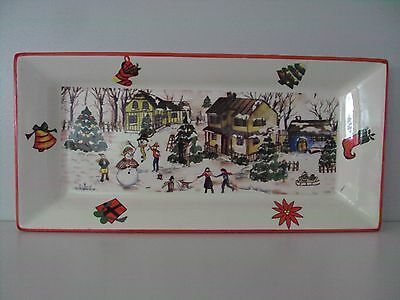 Maxwell Williams Rectangular Christmas Ceramic Plate