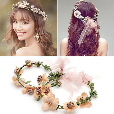 New Boho Flower Floral Women's Hairband Headband Crown Party Bride Wedding Beach