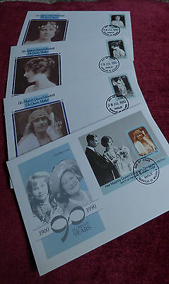 Queen Mother 90th Birthday Set - Maldives FDC - Royalty