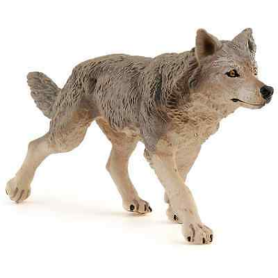 NEW Papo 53012 Grey Wolf Figure FREE SHIPPING