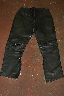 RHINO LEATHER MOTORCYCLE TROUSERS. TOURING TT size 36//38