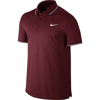 Nike Court polo in claret - Dri-Fit adult large