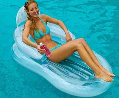 New Air Lounge Mat Swim Tube Chair Inflatable Swimming Pool Floating Float