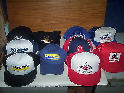 10 Farming & Seed Company Baseball Hats Lot : Pride Super Cock JD + Vintage ETC