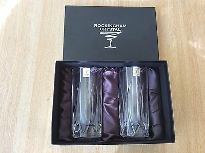 Rockingham Crystal 2 x Hi Ball 320ml Glasses In Presentation Box
