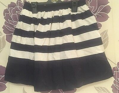 Navy And White Striped Skirt Age 12