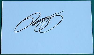 RYAN GIGGS signed index card MANCHESTER UNITED WALES Aftal RD #175