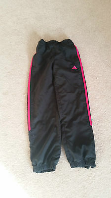 Adidas Tracksuit bottoms Black and pink Age 9 - 10 years