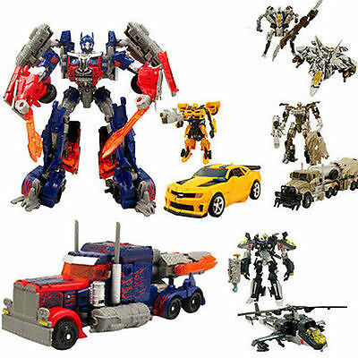 ACTION FIGURE Transformers 3 Voyager Leader Class Optimus Prime Justice Toys NEW