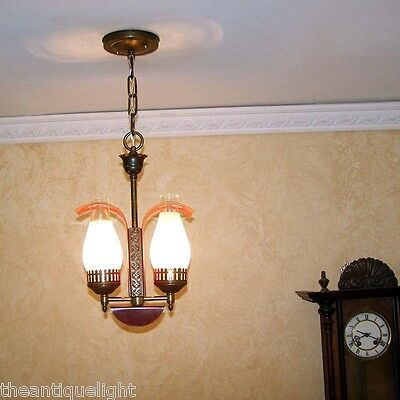 763 Vintage 40's Colonial Ceiling Light Lamp Fixture hall  bedroom foyer