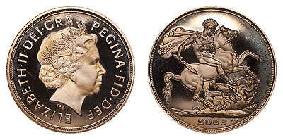 Great Britain Gold Coin Elizabeth II 2009 Gold Proof Sovereign FDC