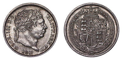 Great Britain Silver Coin George III 1817 Shilling
