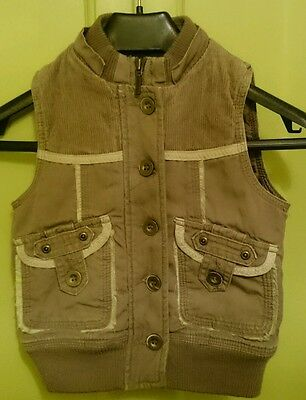 Gillet 6-7 years girls tan colour