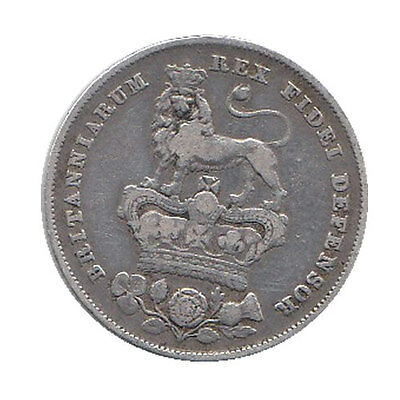 1826 George IV Silver Shilling - Good Condition!