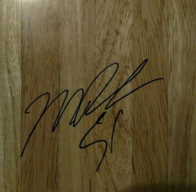 Michael Doleac AUTOGRAPH BASKETBALL FLOORBOARD HAND/SIGNED