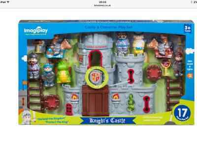 my knight play set castle 8 figures boxed new fab boys girls toys drawbridge