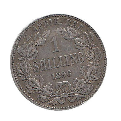 1896 South Africa One Shilling Coin - Great Condition!