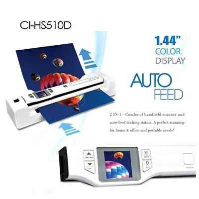 New Digitalk 2-in-1 Combo Portable A4 1200DPI Photo & Document Scanner (CI-HS510