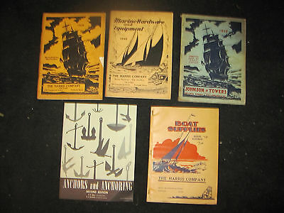 5- Vintage Maritime Boat And Hardware Booklets, 1930's, 40's And 50's.