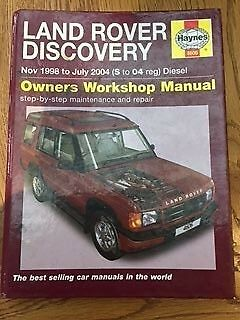 Haynes Land Rover Discovery workshop manual.
