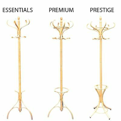 Coat Stand Pine Hook Coat/Hat/Jacket/Umbrella Standing Bentwood Hanging Rack