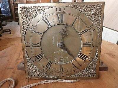 Antique longcase brass dial and movement