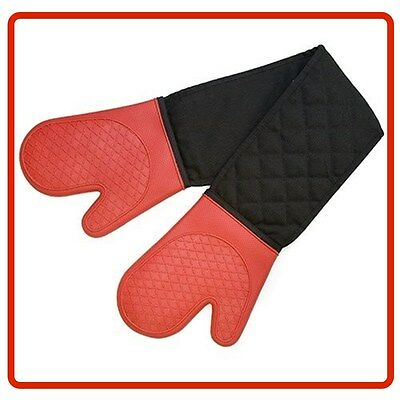 ❤ Brand New Cuisena Silicone Fabric Double Oven Glove - Red ❤