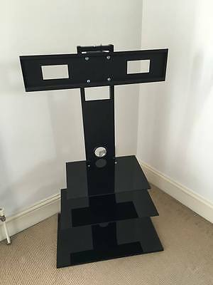 "Glass Floor standing TV stand Fits 27""- 50"" LCD LED Plasma TV"