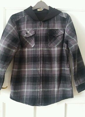 Boys Fleece Lined Checked Shirt Warm Age 10 to 12 New without tags