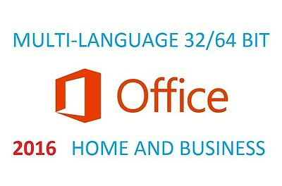 Microsoft Office  2016  Home And Business Multilanguage  3264 Bit Lifetime
