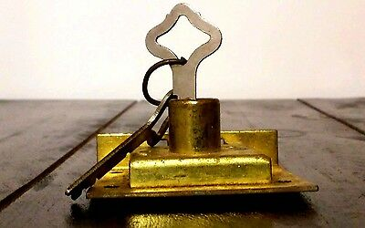 Early Eagle Lock Company  Cabinet or Drawer lock with 2 keys open box AS-IS