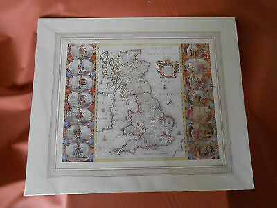 J.Blaeu's Britannia map mounted copy